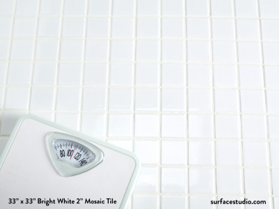 "Bright White 2"" Mosaic Tile (30 lbs)"