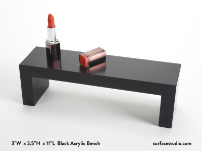 Black Acrylic Bench