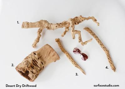 Desert Dry Driftwood (4) $25 Each