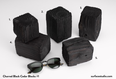 Charred Black Cedar Blocks #1 (5) $40 each