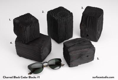 Charred Black Cedar Blocks #1 (5) $40 each