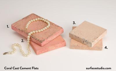 Coral Cast Cement Flats (4) $30 each