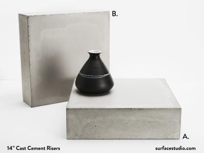 Cast Cement Risers (2 Available - 20 LBS each) $150 Each