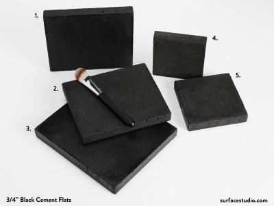 "Black Cement ¾"" Flats (5) $30 Each"