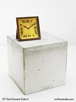 """12"""" Cast Cement Cube #2"""