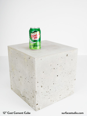 """12"""" Cast Cement Cube #1"""