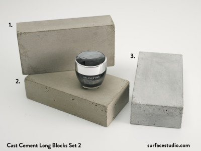Cast Cement Long Blocks Set 2 (3) $45 each