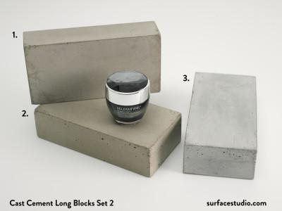 Cast Cement Long Blocks Set 2 (3) $45 each