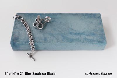 Blue Sandcoat Block