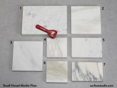Small Honed Marble Flats  (7) $30 Each