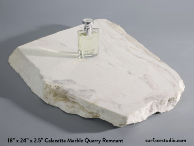 Calacatta Marble Quarry Remnant (70 lbs)