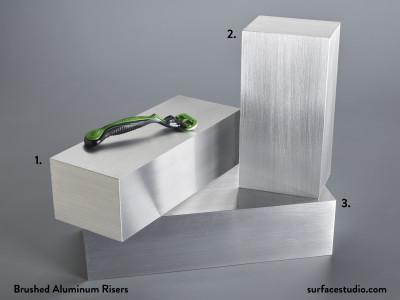 Brushed Aluminum Risers  (3) $50 Each