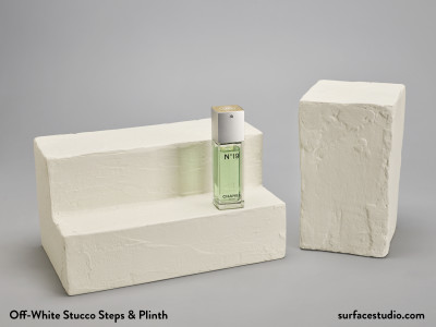 Off-White Stucco Steps & Plinth (2) - $55 Each