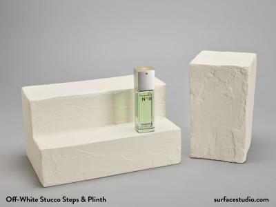 Off-White Stucco Steps & Plinth (2) - $55 Each