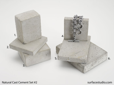 Natural Cast Cement Set 2 (6)  $30 each