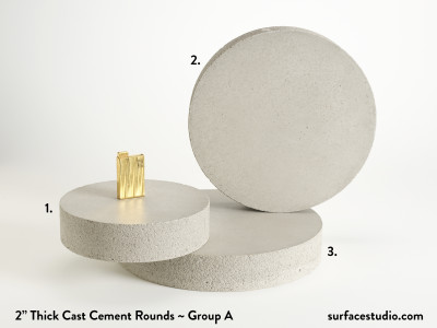 "Cast Cement 2"" Thick Rounds - Group A (3) $55 - $85"