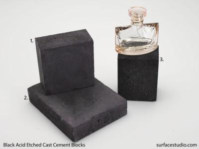 Black Acid-Etched Cast Cement Blocks (3) ~ $30 Each