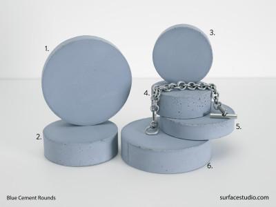 Blue Cement Rounds (6) $35 each