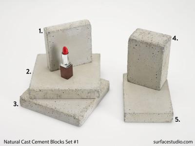 Natural Cast Cement Blocks #1 (5) $30 Each