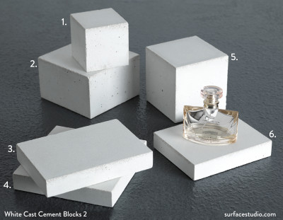 White Cast Cement Blocks Set 2 (6)