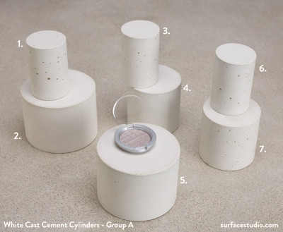White Cast Cement Cylinders - Group A (7)