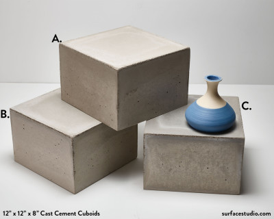 Cast Cement Cuboids  (3)  $150 each