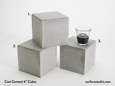 """Cast Cement 6"""" Cubes (3) $55 each"""