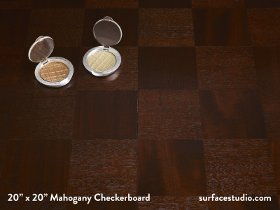 "Mahogany Checkerboard         1.5"" Lip"