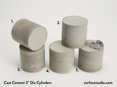 "Cast Cement 3"" Dia Cylinders (5) $40 each"