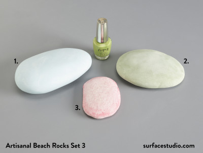 Artisanal Beach Rocks Set 3 (3) $35 each