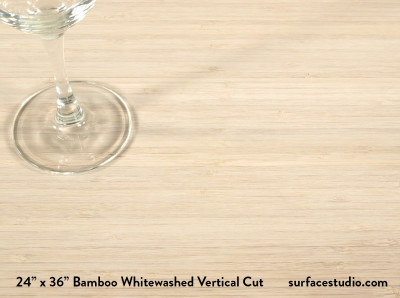 Bamboo Whitewashed Vertical Cut