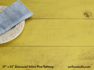 Distressed Yellow Pine Tabletop