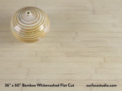 Bamboo Whitewashed Flat Cut