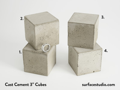 "Cast Cement 3"" Cubes (4) $30 each"