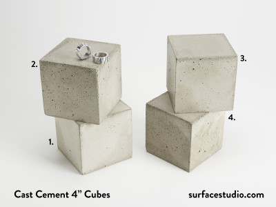 "Cast Cement 4"" Cubes (4) $40 each"