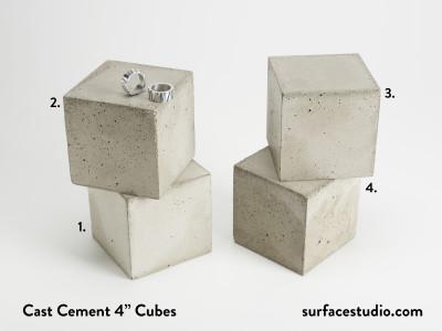"""Cast Cement 4"""" Cubes (4) $40 each"""