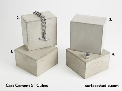 """Cast Cement 5"""" Cubes (4) $40 each"""