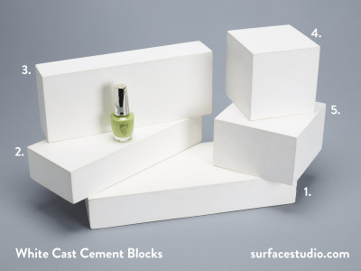 White Cast Cement Blocks  (5)