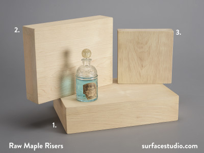 Raw Maple Risers (3) $30 - $50