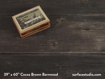 "Cocoa Brown Barnwood (11"" Planks)"