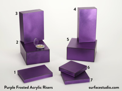 Purple Frosted Acrylic Risers (7) $35 to $50