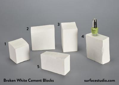 Broken White Cement Blocks (5) $30 each