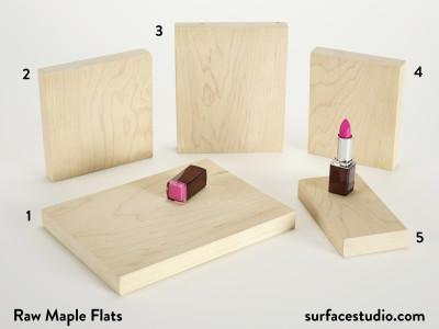 Raw Maple Flats (5) $30 Each