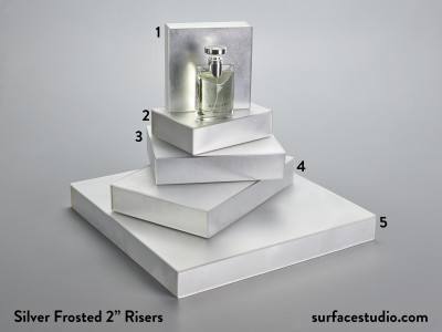"Silver Frosted 2"" Risers (5) $45 - $60"