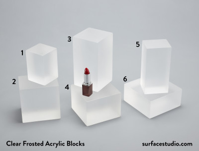 Clear Frosted Acrylic Blocks (6)