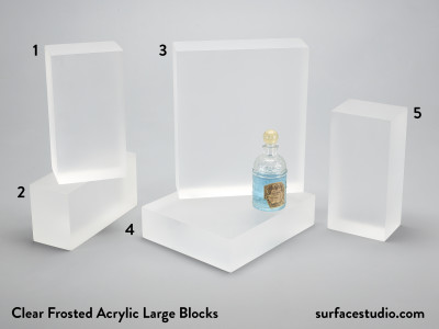 Clear Frosted Acrylic Large Blocks (5) $50 - $55