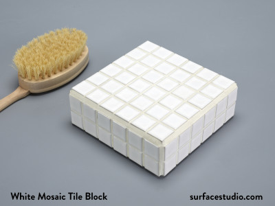 White Mosaic Tile Block