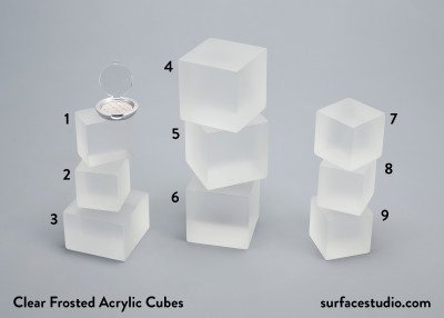 Clear Frosted Acrylic Cubes (9)