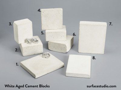 White Aged Cement Blocks  (8) $30 Each