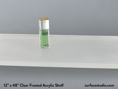 Clear Frosted Acrylic Shelf